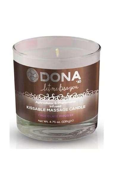 Вкусовая массажная свеча для оральных ласк DONA Kissable Massage Candle Chocolate Mousse