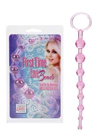 Анальная цепочка First Time Love Beads розовая
