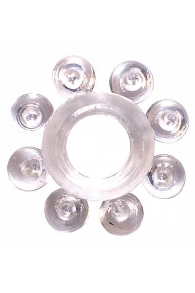 Эрекционное кольцо Rings Bubbles white
