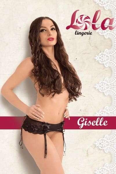 Черный пояс для чулок Giselle