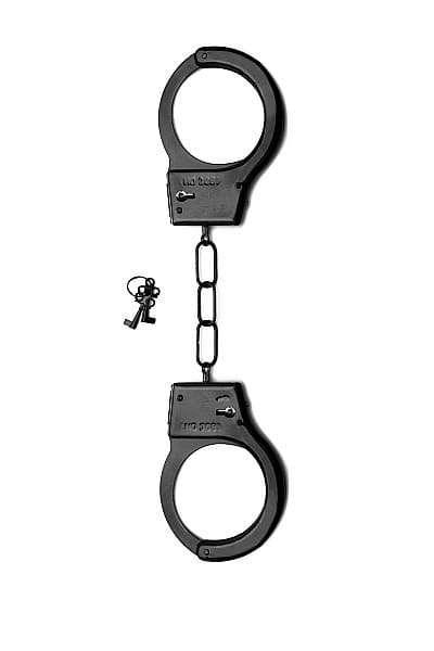 Металлические наручники SHOTS TOYS Черные