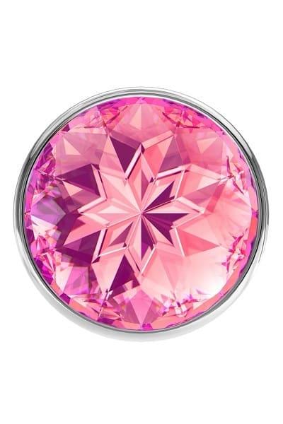 Анальная пробка Diamond Pink Sparkle Large