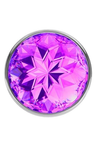 Анальная пробка Diamond Purple Sparkle Large