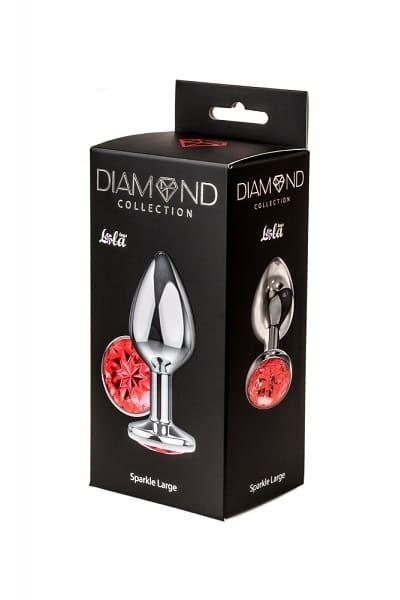 Анальная пробка Diamond Red Sparkle Large