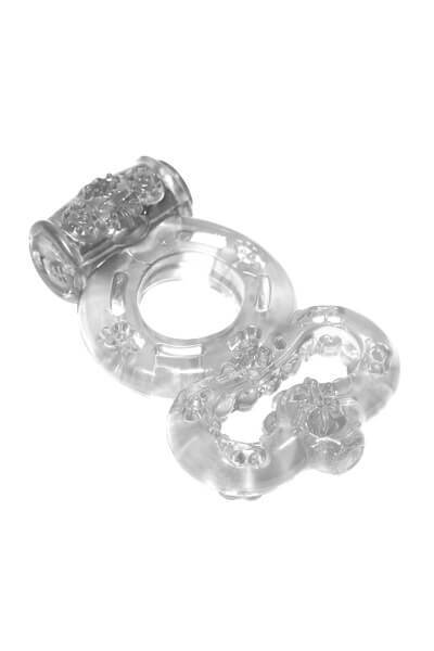 Эрекционное виброкольцо Rings Treadle white