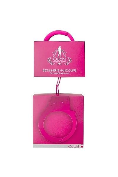 Металлические наручники OUCH! Розовые