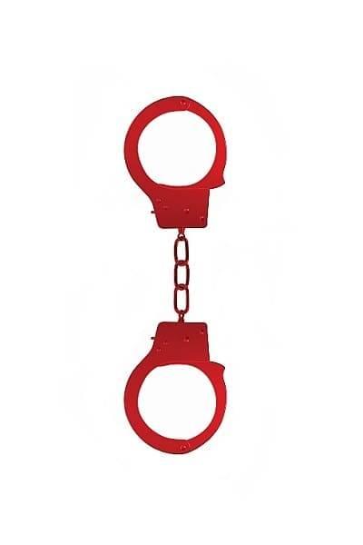 Металлические наручники OUCH! Красные