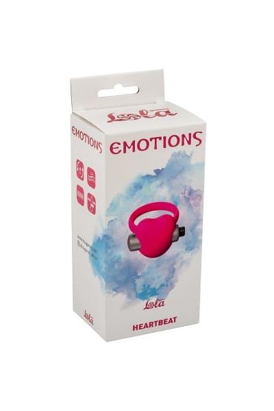 Эрекционное виброкольцо Emotions Heartbeat pink