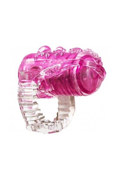 Насадка на язык с вибрацией Rings Teaser pink